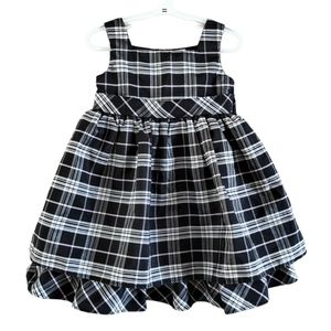George Plaid Layered Party Dress 4T